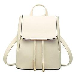 AutumnFall Women Leather Backpacks Schoolbags Travel Shoulde