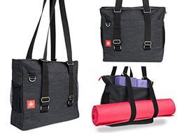 LUCKAYA Yoga Mat Tote Bag/Backpack: Multi Purpose Carryall B